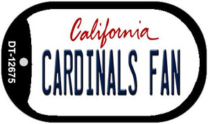 Cardinals Fan Wholesale Novelty Metal Dog Tag Necklace DT-12675