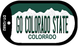 Go Colorado State Wholesale Novelty Metal Dog Tag Necklace DT-12682