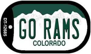 Go Rams Wholesale Novelty Metal Dog Tag Necklace DT-12685
