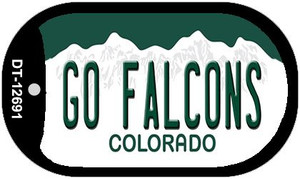 Go Falcons Wholesale Novelty Metal Dog Tag Necklace DT-12691