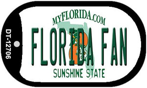 Florida Fan Wholesale Novelty Metal Dog Tag Necklace DT-12706