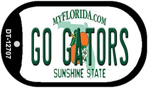 Go Gators Wholesale Novelty Metal Dog Tag Necklace DT-12707
