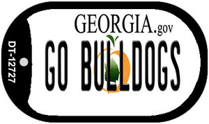 Go Bulldogs Wholesale Novelty Metal Dog Tag Necklace DT-12727