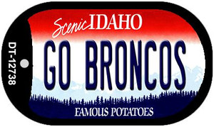 Go Broncos Wholesale Novelty Metal Dog Tag Necklace DT-12738