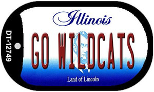 Go Wildcats Wholesale Novelty Metal Dog Tag Necklace DT-12749