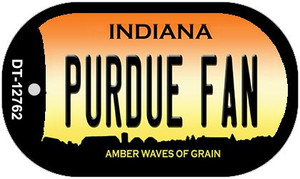 Purdue Fan Wholesale Novelty Metal Dog Tag Necklace DT-12762