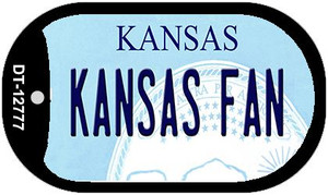 Kansas Fan Wholesale Novelty Metal Dog Tag Necklace DT-12777