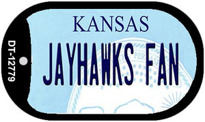 Jayhawks Fan Wholesale Novelty Metal Dog Tag Necklace DT-12779