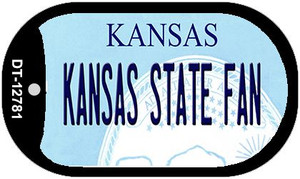 Kansas State Fan Wholesale Novelty Metal Dog Tag Necklace DT-12781