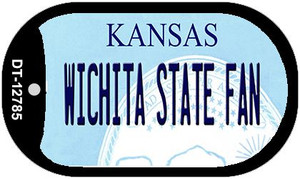 Wichita State Fan Wholesale Novelty Metal Dog Tag Necklace DT-12785