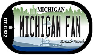 Michigan Fan Wholesale Novelty Metal Dog Tag Necklace DT-12832