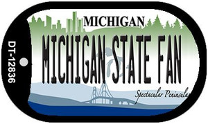 Michigan State Fan Wholesale Novelty Metal Dog Tag Necklace DT-12836