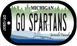 Go Spartans Wholesale Novelty Metal Dog Tag Necklace DT-12837