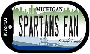 Spartans Fan Wholesale Novelty Metal Dog Tag Necklace DT-12838