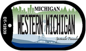 Western Michigan Wholesale Novelty Metal Dog Tag Necklace DT-12839