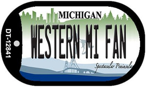 Western Michigan Fan Wholesale Novelty Metal Dog Tag Necklace DT-12841
