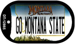 Go Montana State Wholesale Novelty Metal Dog Tag Necklace DT-12865