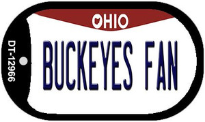 Buckeyes Fan Wholesale Novelty Metal Dog Tag Necklace DT-12966