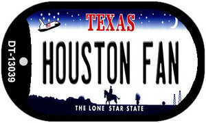 Houston Fan Wholesale Novelty Metal Dog Tag Necklace DT-13039