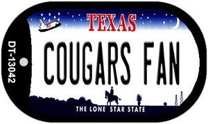 Cougars Fan Wholesale Novelty Metal Dog Tag Necklace DT-13042