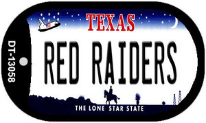Red Raiders Wholesale Novelty Metal Dog Tag Necklace DT-13058