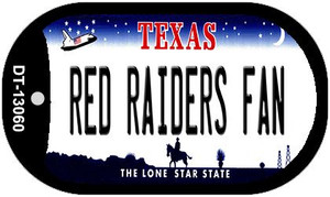 Red Raiders Fan Wholesale Novelty Metal Dog Tag Necklace DT-13060