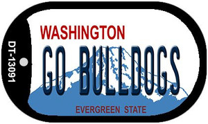 Go Bulldogs Wholesale Novelty Metal Dog Tag Necklace DT-13091
