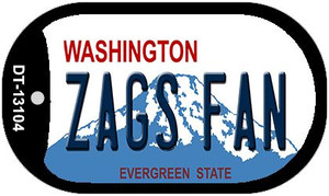 Zags Fan Wholesale Novelty Metal Dog Tag Necklace DT-13104