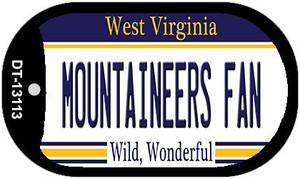Mountaineers Fan Wholesale Novelty Metal Dog Tag Necklace DT-13113