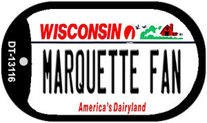 Marquette Fan Wholesale Novelty Metal Dog Tag Necklace DT-13116