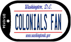 Colonials Fan Wholesale Novelty Metal Dog Tag Necklace DT-13134