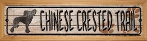 Chinese Crested Trail Wholesale Novelty Wood Mounted Metal Small Street Sign WB-K-050