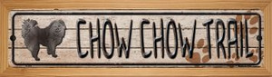 Chow Chow Trail Wholesale Novelty Wood Mounted Metal Small Street Sign WB-K-052
