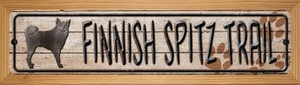 Finnish Spitz Trail Wholesale Novelty Wood Mounted Metal Small Street Sign WB-K-057