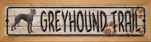 Greyhound Trail Wholesale Novelty Wood Mounted Metal Small Street Sign WB-K-060