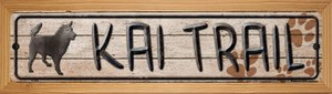 Kai Trail Wholesale Novelty Wood Mounted Metal Small Street Sign WB-K-065