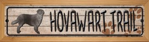Hovawart Trail Wholesale Novelty Wood Mounted Metal Small Street Sign WB-K-115
