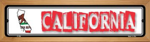 California State Outline Wholesale Novelty Wood Mounted Metal Small Street Sign WB-K-304