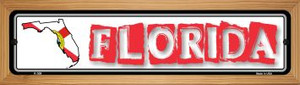 Florida State Outline Wholesale Novelty Wood Mounted Metal Small Street Sign WB-K-308