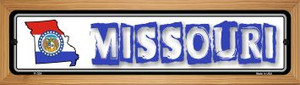 Missouri State Outline Wholesale Novelty Wood Mounted Metal Small Street Sign WB-K-324