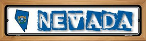 Nevada State Outline Wholesale Novelty Wood Mounted Metal Small Street Sign WB-K-327