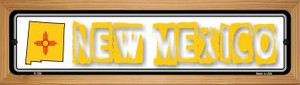 New Mexico State Outline Wholesale Novelty Wood Mounted Metal Small Street Sign WB-K-330