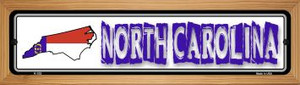 North Carolina State Outline Wholesale Novelty Wood Mounted Metal Small Street Sign WB-K-332