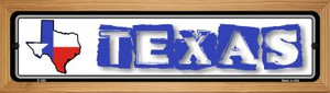 Texas State Outline Wholesale Novelty Wood Mounted Metal Small Street Sign WB-K-342