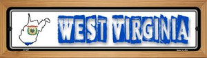 West Virginia State Outline Wholesale Novelty Wood Mounted Metal Small Street Sign WB-K-347