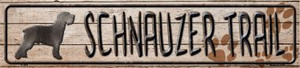Schnauzer Trail Wholesale Novelty Metal Small Street Signs