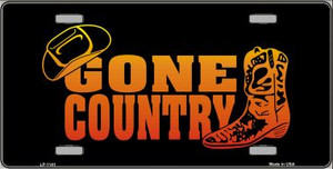 Gone Country Novelty Wholesale Metal License Plate