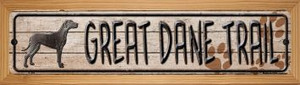 Great Dane Trail Wholesale Novelty Wood Mounted Metal Small Street Sign WB-K-462