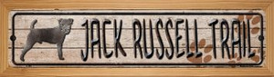 Jack Russell Trail Wholesale Novelty Wood Mounted Metal Small Street Sign WB-K-466