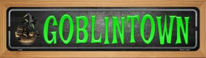 Goblintown Wholesale Novelty Wood Mounted Metal Small Street Sign WB-K-490